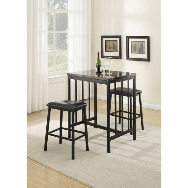 Presson 3 Piece Counter Height Dining Set By Winston Porter Modern
