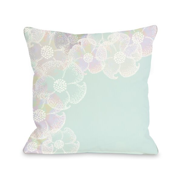 Bloom Border Throw Pillow by One Bella Casa