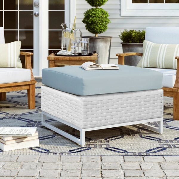 Menifee Outdoor Ottoman with Cushion by Sol 72 Outdoor