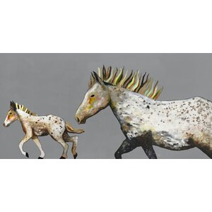 'Speckled Pony Ride' by Eli Halpin Graphic Art on Wrapped Canvas by GreenBox Art
