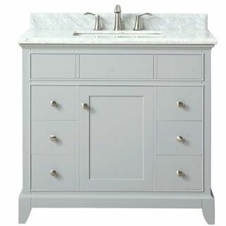 Bhushan Marble Top 37 Single Bathroom Vanity Set by Red Barrel Studio