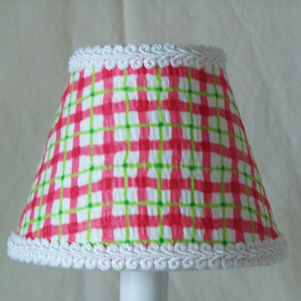 Cherry Plaid 11 Fabric Empire Lamp Shade by Silly Bear Lighting