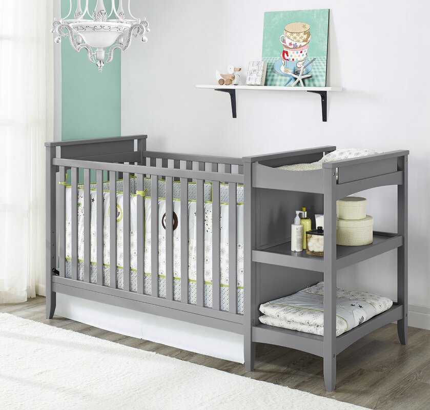 table with amp raw cribs crib baby convertible portofino changing storkcraft