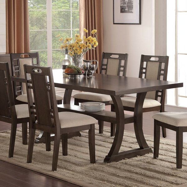 Wick, Somerset Rubber Wood Dining Table by Millwood Pines