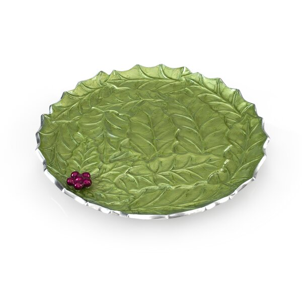Holly Sprig 13 Round Platter by Julia Knight Inc