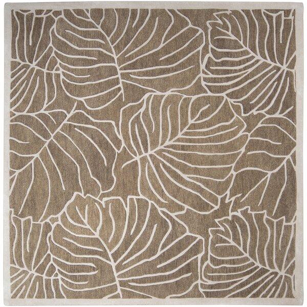 Jaya Handmade Tufted Wool Gray/Tan Rug