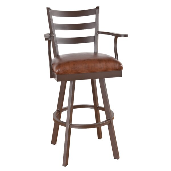 Andre Swivel Bar & Counter Stool by Millwood Pines Millwood Pines