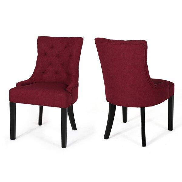 Georgie Upholstered Dining Chair (Set of 2) by Alcott Hill Alcott Hill