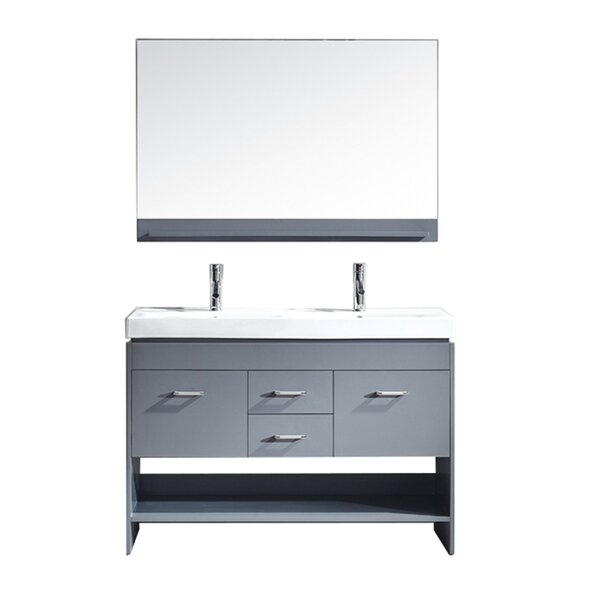 48 Double Bathroom Vanity Base by Mercury Row