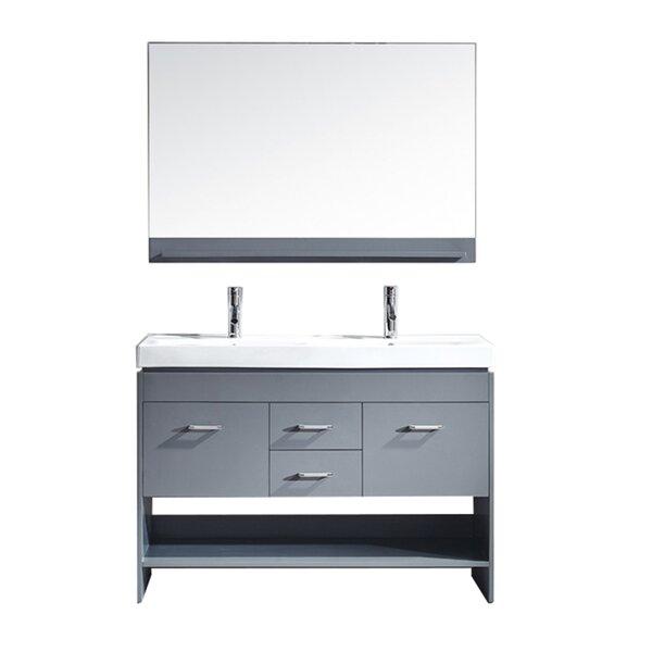 48 Double Bathroom Vanity Base by Mercury Row