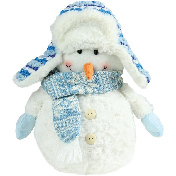 Snowman Wearing Trapper Hat Christmas Decoration by Northlight Seasonal
