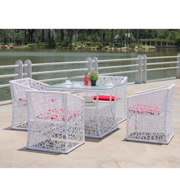 Thin 5 Piece Dining Set with Cushion
