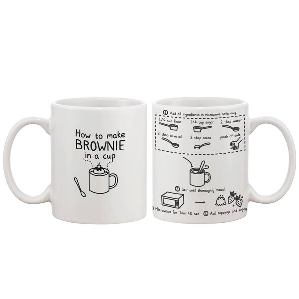 How to Make Brownie in a Cup Ceramic Coffee Mug by 365 Printing Inc