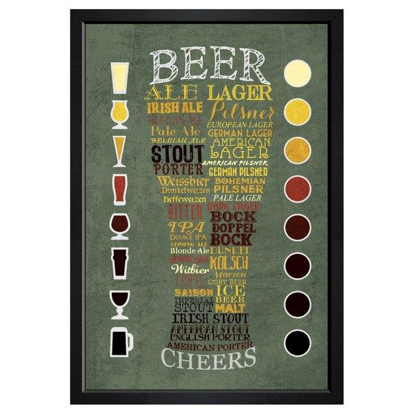 Beer Chart Framed Textual Art By Brayden Studio.