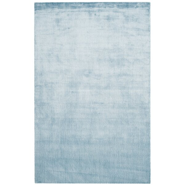 Barnabas Hand-Knotted Dream Blue Area Rug by Red Barrel Studio