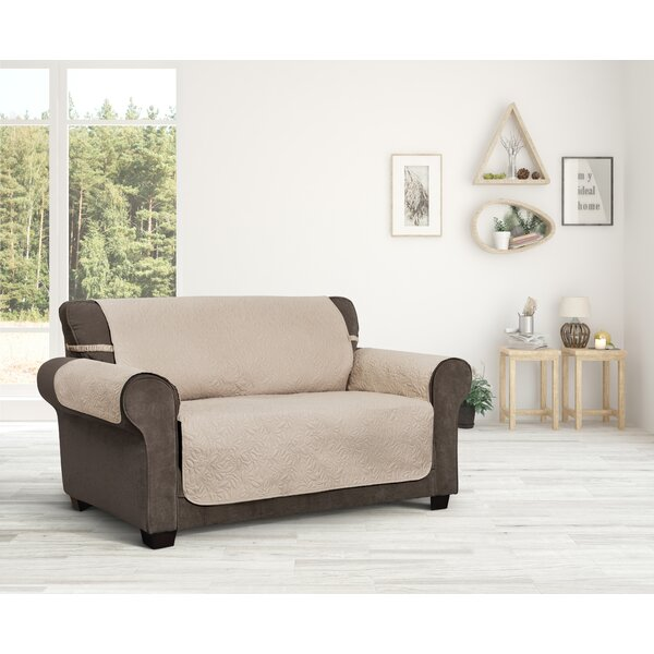 Belmont Leaf Secure Fit Loveseat Furniture Slipcover by Innovative Textile Solutions