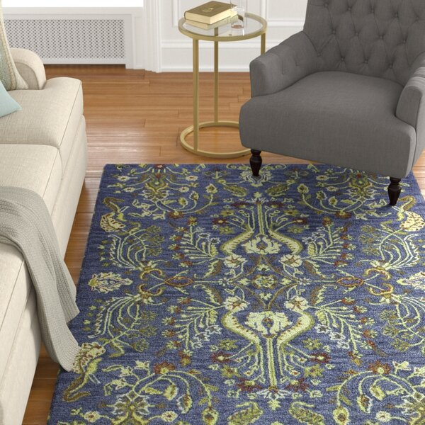 Croom Hand Tufted Wool Blue Area Rug by Darby Home Co