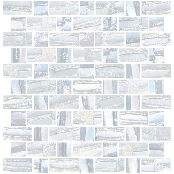 Signature Line Recycled Iridescent Glass Mosaic Tile in Gray/Blue by Susan Jablon