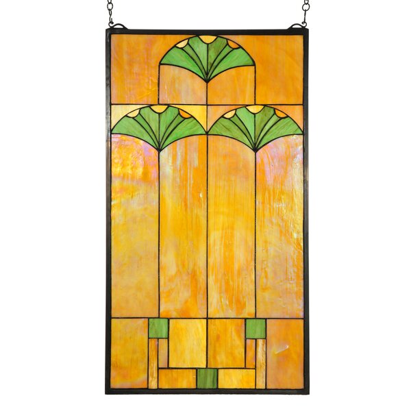 Ginkgo Stained Glass Window by Meyda Tiffany