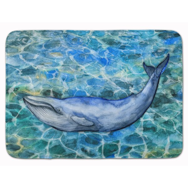 Humpback Whale Rectangle Microfiber Non-Slip Bath Rug