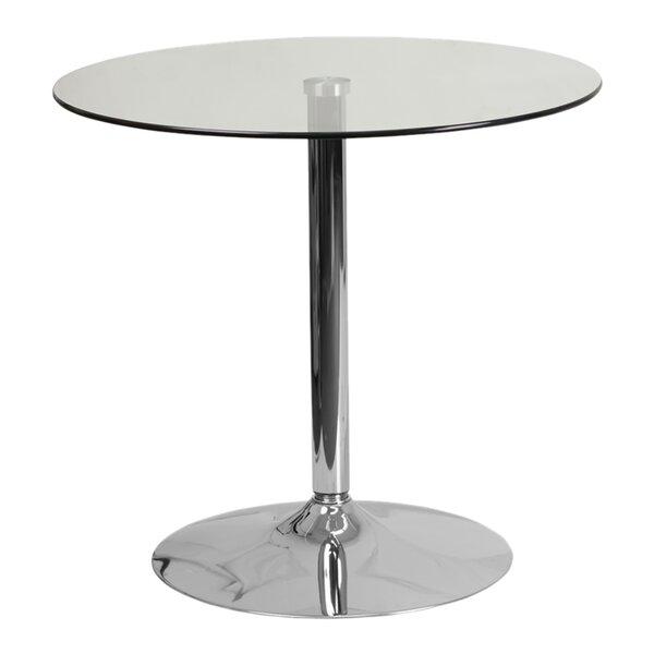 Delora Glass Pub Table by Orren Ellis