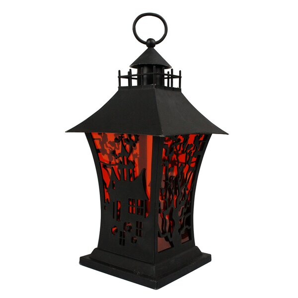Halloween Mansion Lantern Lamp by The Holiday Aisle