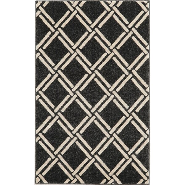 Storyvale Black Area Rug by Beachcrest Home