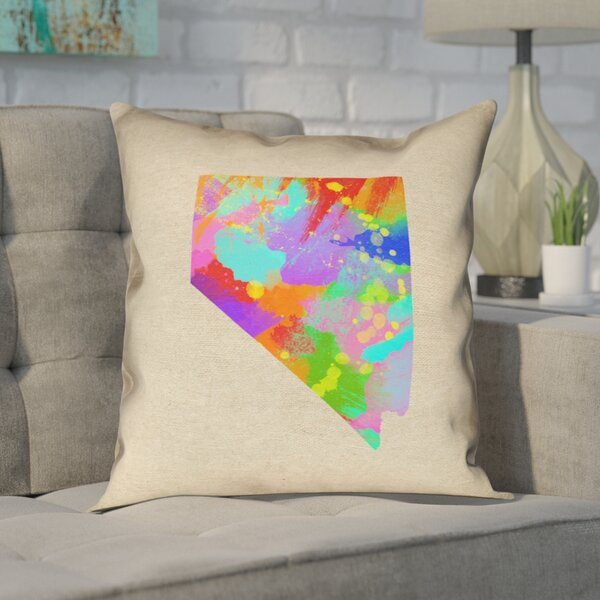 Giorgi State Watercolor in , Cotton Twill Double Sided Print/Throw Pillow