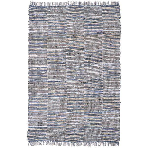 Synthia Hand Woven Cotton Blue/Natural Hemp Area Rug by Laurel Foundry Modern Farmhouse