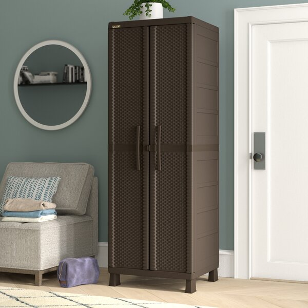 Wardlaw Resin Rattan Wardrobe Armoire By Symple Stuff by Symple Stuff Top Reviews