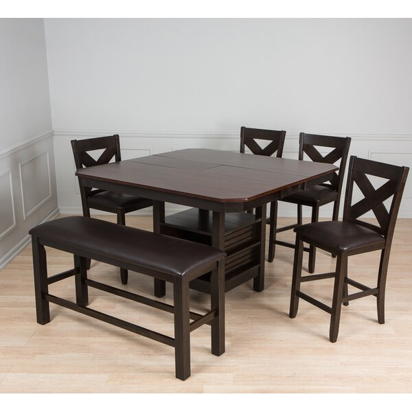 New Design 6 Piece Pub Table Set By AW Furniture Top Reviews