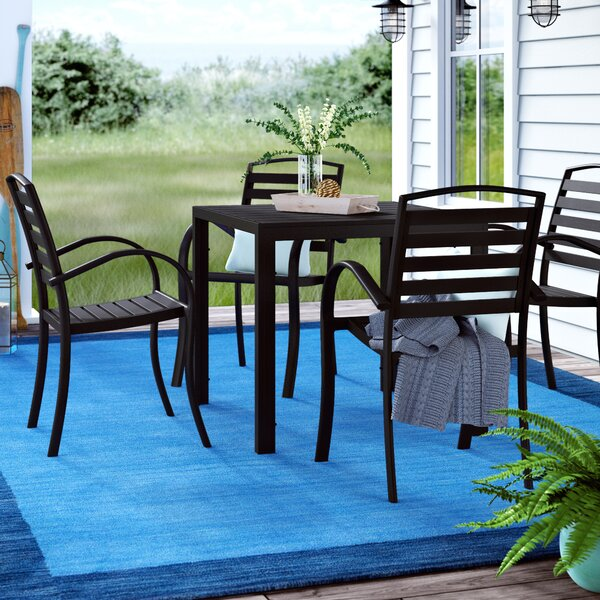 Gallegos Modern Contemporary 5 Piece Dining Set by Wrought Studio