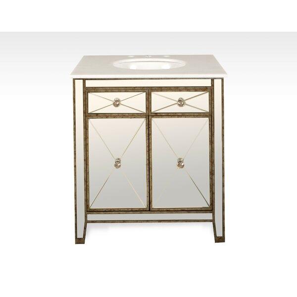 Chenai 30 Calacatta Marble Single Bathroom Vanity Set by Everly Quinn