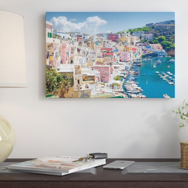 Marina Corricella III, Procida Island, Gulf of Naples, Campania Region, Italy Photographic Print on Wrapped Canvas by East Urban Home