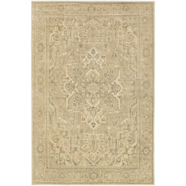 Redding Beige/Gray Area Rug by Alcott Hill