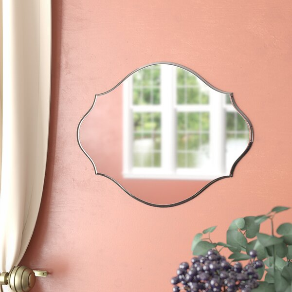 Reign Frameless Oval Scalloped Beveled Wall Mirror by DesignOvation