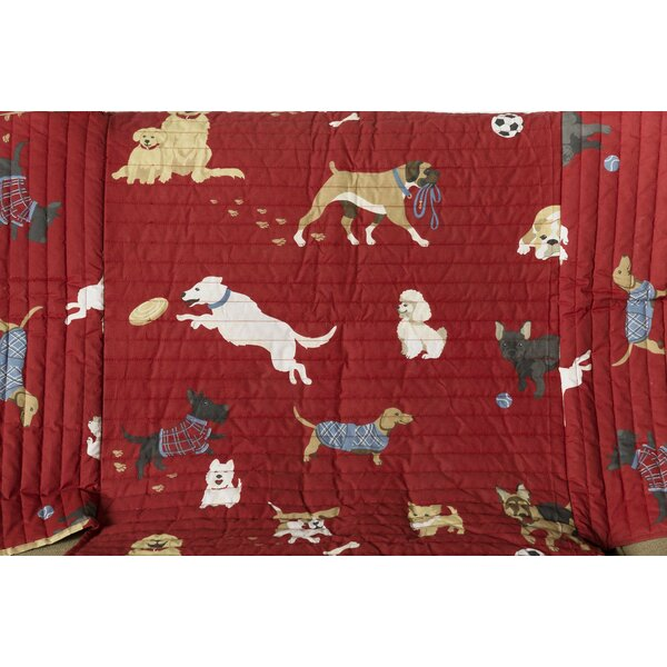 Dog Park Box Cushion Sofa Slipcover by Plow & Hearth