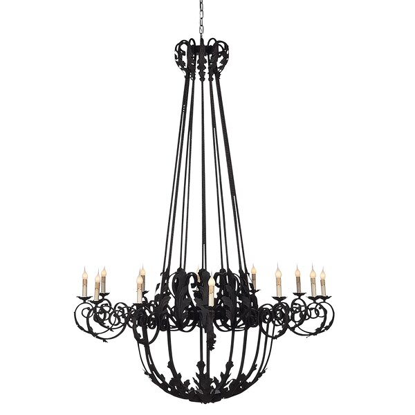 French 12-Light Candle Style Empire Chandelier by ellahome ellahome