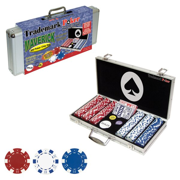 300 Piece Maverick Poker Chip Set by Trademark Global