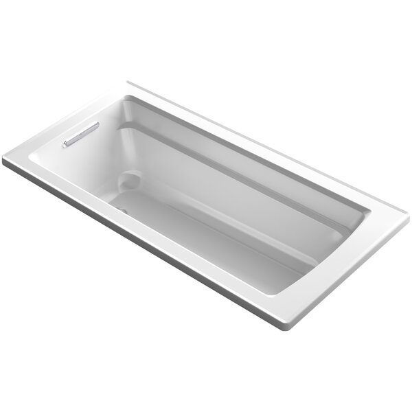 Archer VibrAcoustic Integral Apron Bath with Bask™ Heated Surface, Tile Flange, and Left-Hand Drain by Kohler