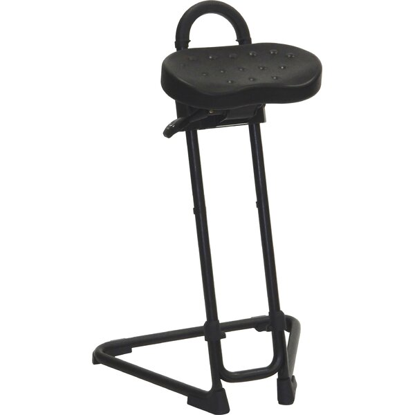 Height Adjustable Sit Stand with Swivel Seat by ShopSol