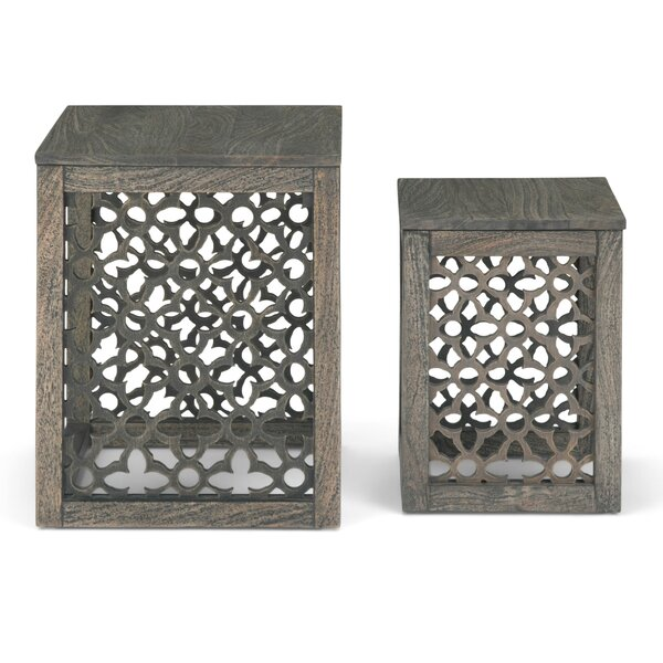 Lourde 2 Piece Nesting Tables By Bungalow Rose