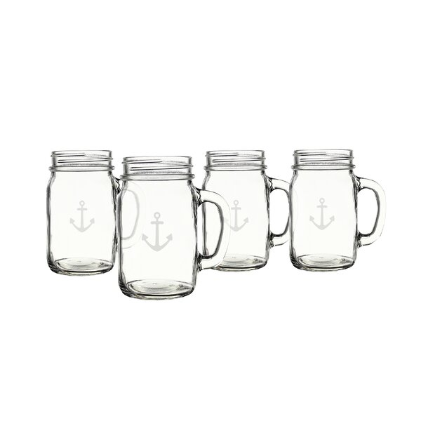 Anchor Mason Jar (Set of 4) by Cathys Concepts