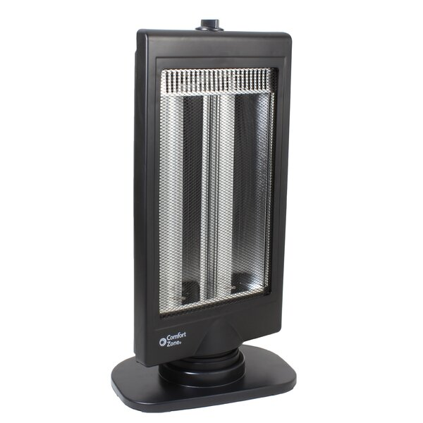 Halogen 400 Watt Electric Radiant Tower Heater By Comfort Zone