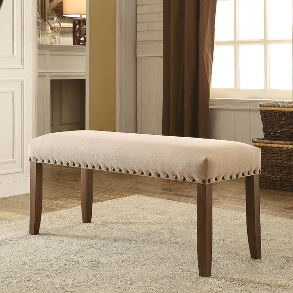 Holly Hills Upholstered Bench by Loon Peak