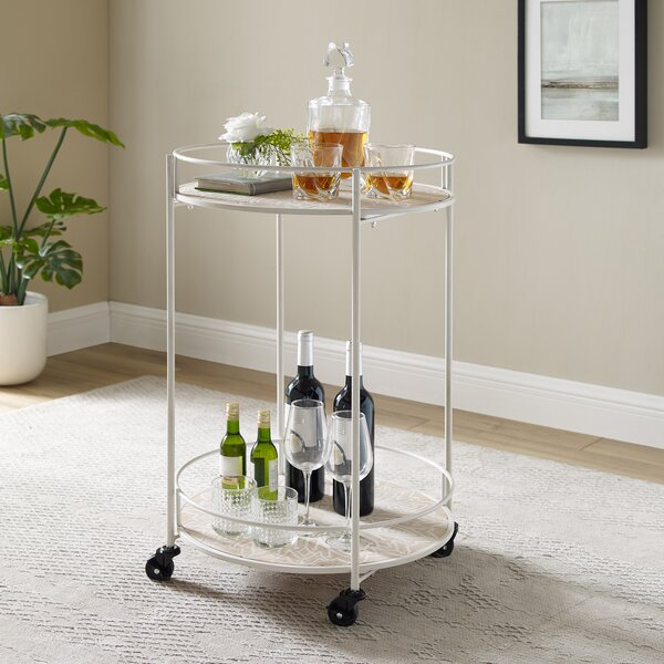 Crickhollow Perry Medallion Rolling Bar Cart By August Grove