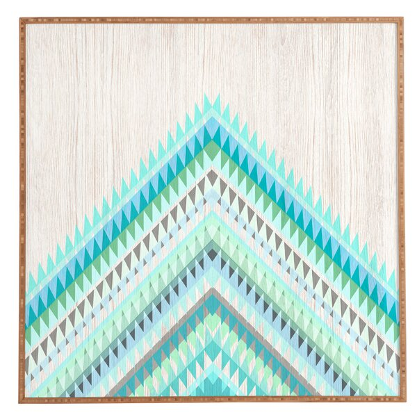 Mint Icicle Framed Graphic Art by East Urban Home