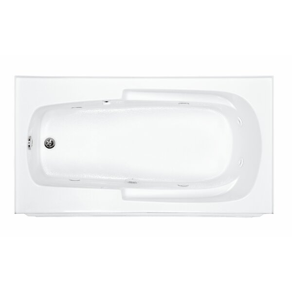 Reliance Integral 60 x 32 Alcove Whirlpool Bathtub by Reliance