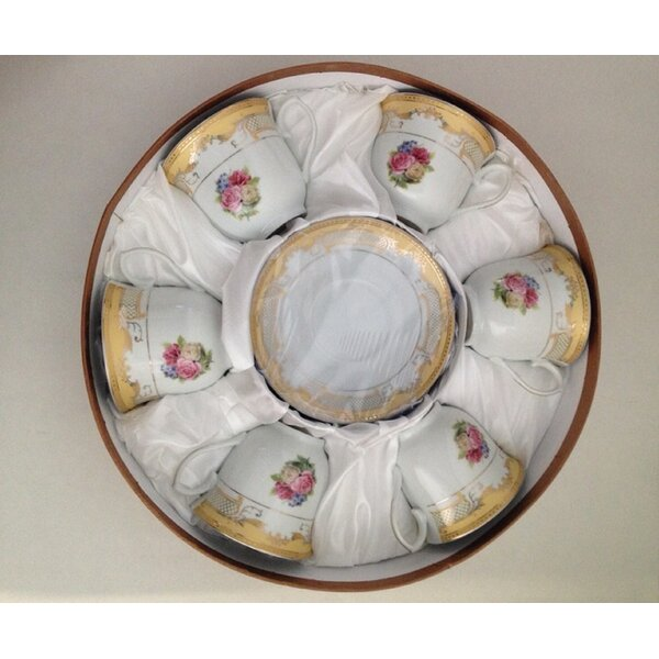 Tea Cup and Saucer (Set of 6) by Imperial Gift Co.