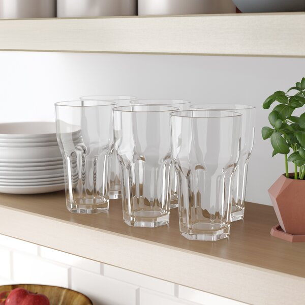 Cecille 23 oz. Acrylic Drinking Glass (Set of 6) by Red Barrel Studio